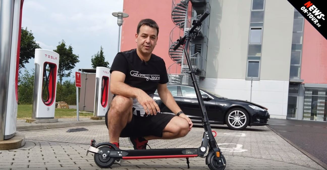 Moovi StVo im Tesla Transport Check bei News-on-Tour