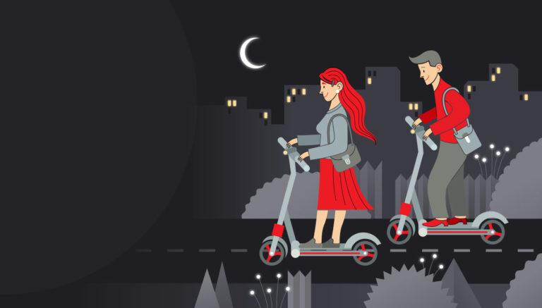 moovi escooter infographic hintergrund