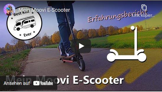 Herzblutcamper testen den Moovi E-Scooter